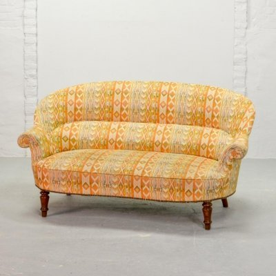 Mid-Century Design Elegant French Two-Seat Canapé Sofa, France 1950s
