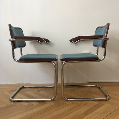 Set of 2 Dining Chairs by Marcel Breuer