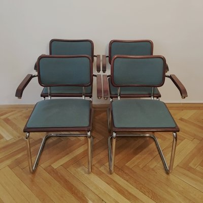 Set of 4 Dining Chairs by Marcel Breuer