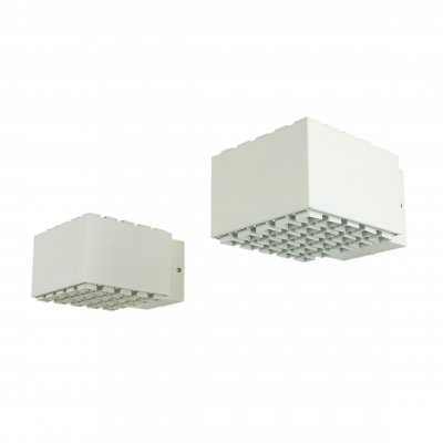 Pair of modern cubistic wall lights by Philips, 1970s