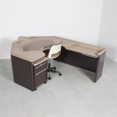 Gispen KT Unit Desk & Chair by J. J. Jacobs, 1975