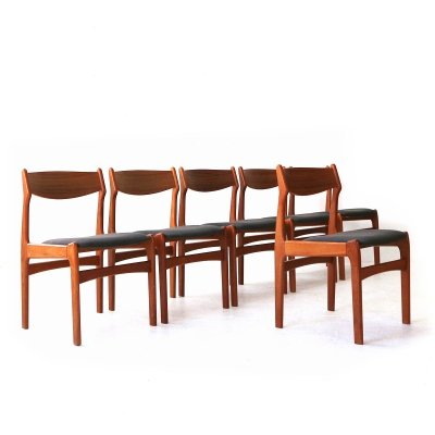 Lot of Six Teak Dining Chairs by Erik Buch