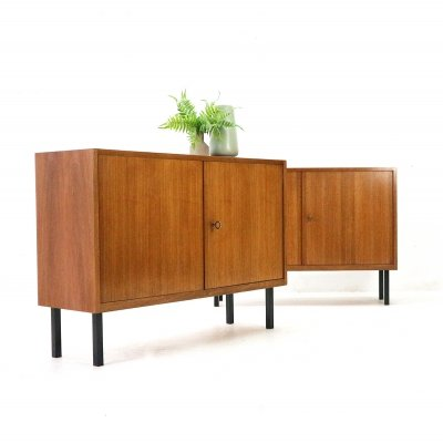 2x Straight-lined '60s Walnut Sideboard