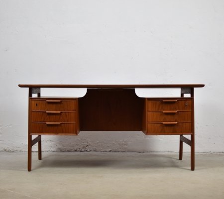 Model 75 desk by Gunni Omann for Omann Jun Møbelfabrik, Denmark 1960's