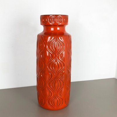 Extra Large 55cm Fat Lava 'Onion' Vase by Scheurich, Germany 1970s