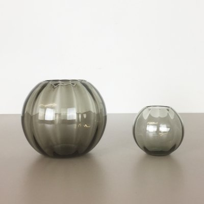 Set of 2 Turmaline Ball Vases by Wilhelm Wagenfeld for WMF Germany, 1960s