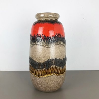 Extra Large Fat Lava '284-53' Vase by Scheurich, Germany 1970s