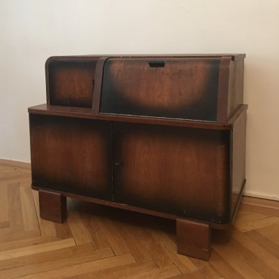 Record Player Cabinet by Jindrich Halabala for UP Zavody, 1930s