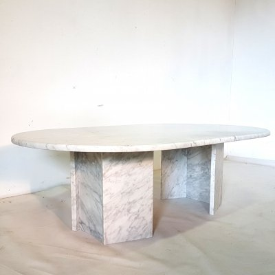 Carrera marble coffee table, 1970s