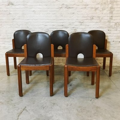 Set of 5 dining chairs by van den Berghe Pauvers, 1970