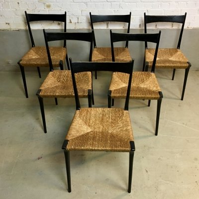 Set of 6 'S2' dining chairs by Alfred Hendrickx for Belform, 1950s