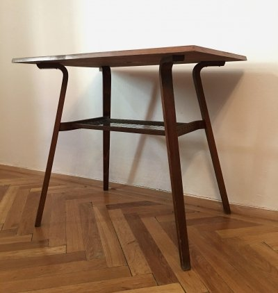Vintage Coffee Table with Stringed Board by Miroslav Navratil for Drevopodnik Holesav