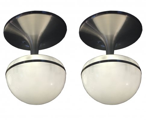 1970s Pair of space age chandeliers