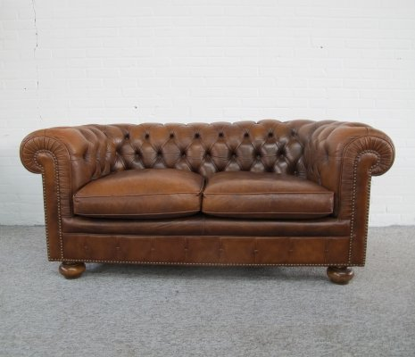 Vintage leather Chesterfield sofa, 1970s