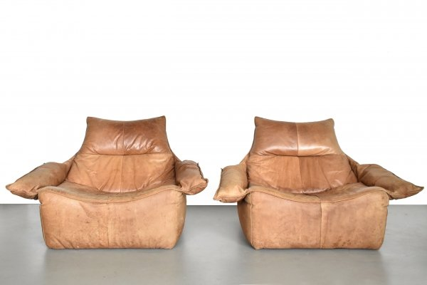 Set of 2 very rare lounge chairs by Gerard van den Berg for Montis 1970s