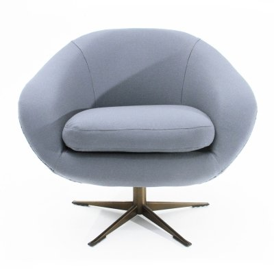 'Julia' gray swivel armchair by Ceriotti, 1960s