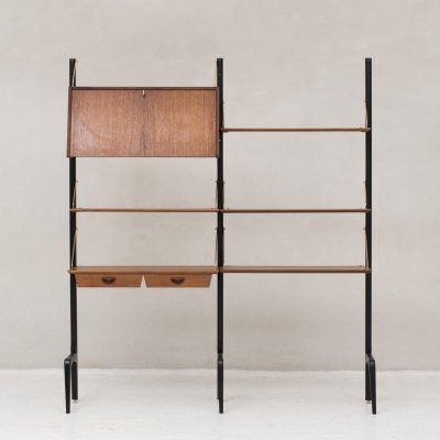 2-piece wall unit by Louis van Teeffelen for Wébé, Dutch design 1950's