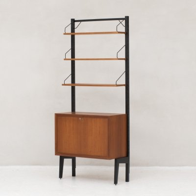 Freestanding 'Royal System' wall unit in teak by Poul Cadovius