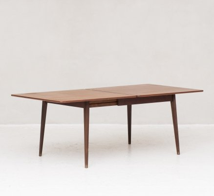 Rare dining table in teak by Louis Van Teeffelen for Wébé
