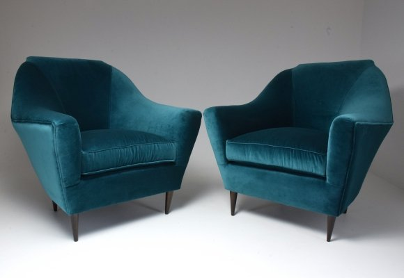 Italian Vintage Mid-Century Modern Armchairs by Ico Parisi