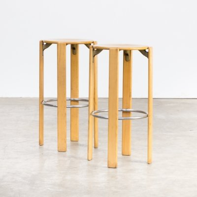 Pair of Bar Stools by Bruno Rey for Dietiker Kusch & Co, 1970s