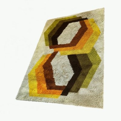 Extra Large Vintage Multi-Color High Pile Rug by Desso, Netherlands 1970s