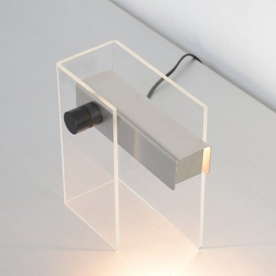 Minimalist Perspex Table Lamp by Christophe Gevers