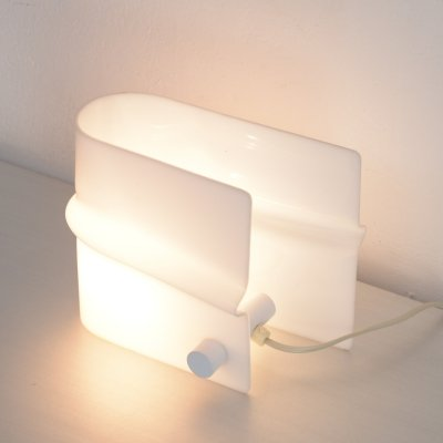 White Perspex Table Lamp by Christophe Gevers