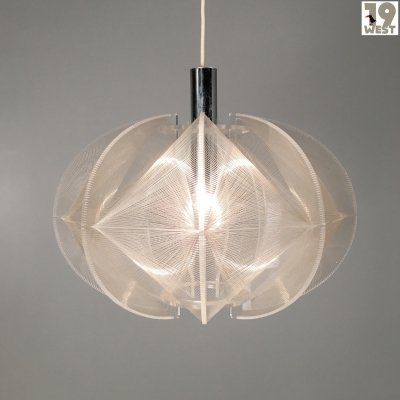 Op Art 'Swag' pendant lamp by Paul Secon for Sompex