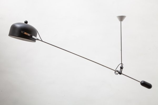 Brown Adjustable Mid-Century Cantilever Lamp by J. Hoogervorst for Anvia
