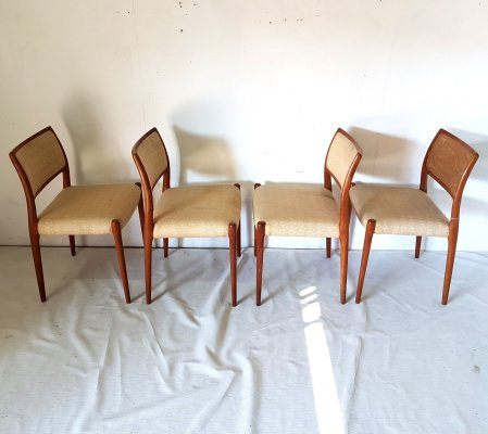 Model 80 dining chairs by Niels O. Møller for J.L. Møller, Denmark 1960s