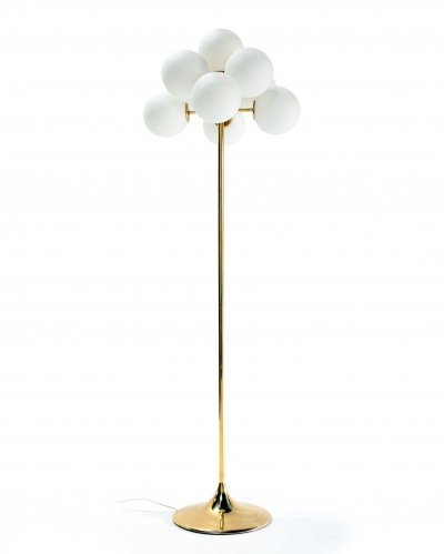 Floor lamp by Max Bill for Temde Leuchten, 1960s