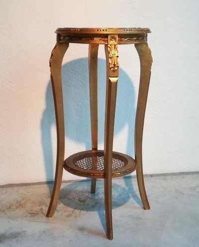 High console table in gilt wood