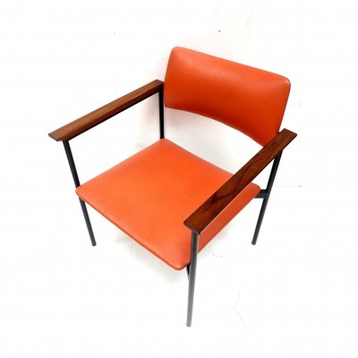 Vintage orange arm chair