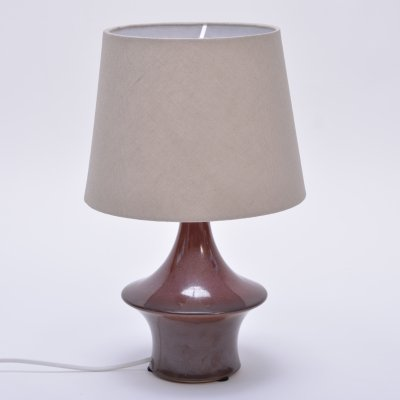 Vintage ceramic table lamp by Soholm Stentoj