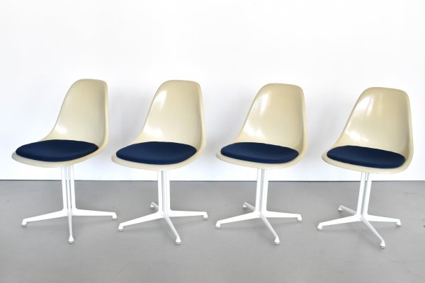 Set of 4 La Fonda dining chairs by Charles & Ray Eames for Herman Miller, 1970s