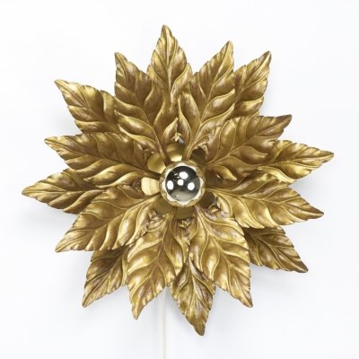 Floral Italian wall or ceiling lamp, 1970s