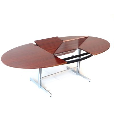 Large vintage extendable conference table / dining table
