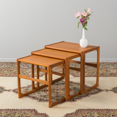 Danish nesting tables by BR Gelsted, 1960s