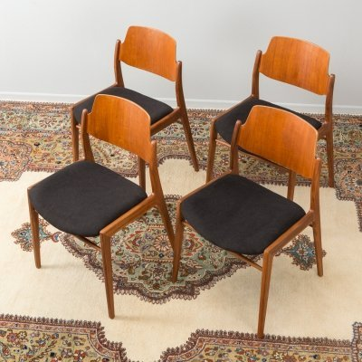 Set of 4 German dining chairs by Wilkhahn, 1950s
