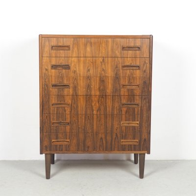 Danish design rosewood chest of drawers by Westergaards Möbelfabrik, 1960s