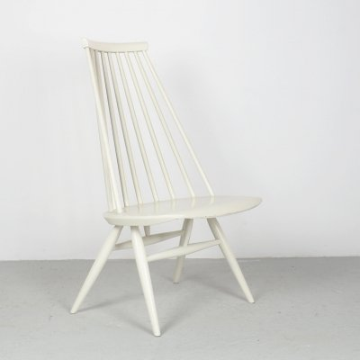 Ilmari Tapiovaara Mademoiselle 57 lounge chair in white, 1950's