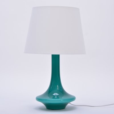 Green Vintage Glass Table Lamp