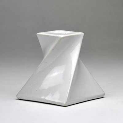 White ceramic candle holder by Jan van der Vaart, 1976