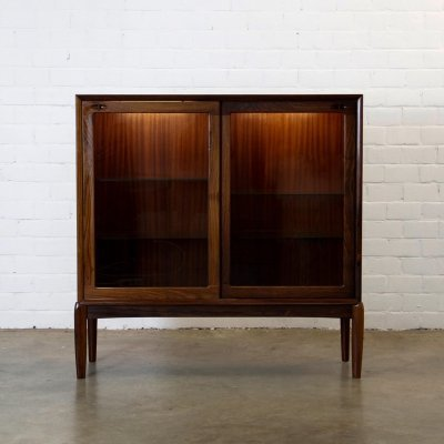 Rosewood cabinet with lighting by Bramin, 1960s