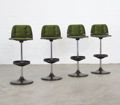Set of 4 vintage stools, 1980s