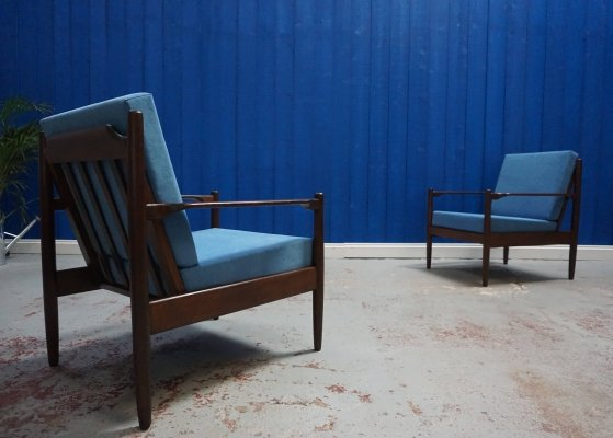 Pair of Mid Century Modern Danish Armchairs, 1960s