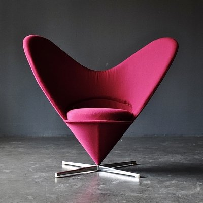 1st generation Heart Cone Chair by Verner Panton for Plus Linje, 1950s
