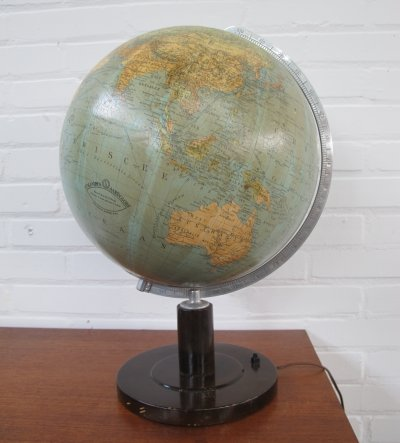 Vintage World glass globe by Columbus, 1960s