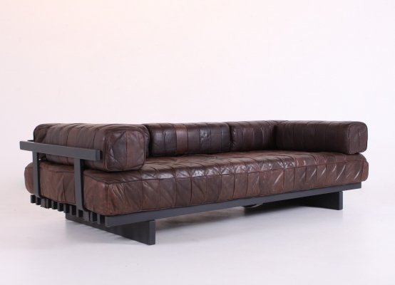De Sede patchwork leather modulable DS 80 daybed, 1970s